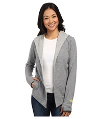 The North Face Harmony Park Wrap Heather Grey Women's Long Sleeve Pullover Gray