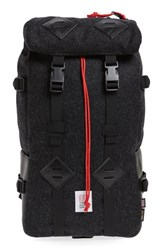 Topo Designs Men's 'Klettersack' Wool Backpack Black