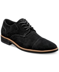 Stacy Adams Seaver Cap Toe Oxfords Men's Shoes Black Suede