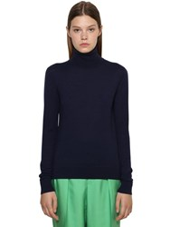 Ralph Lauren Cashmere Knit Turtleneck Sweater Navy