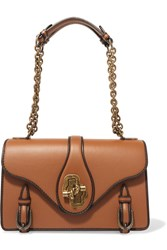 Bottega Veneta The City Knot Leather Shoulder Bag Tan