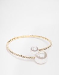 Love Rocks Two Pearl Cuff Bracelet