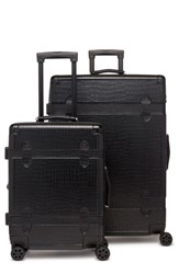 Calpak 20 Inch And 28 Inch Trunk Rolling Luggage Set Black