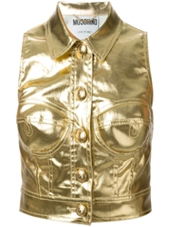 Moschino Cropped Gilet Metallic