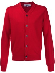 Comme Des Garcons Play Classic Cardigan Red