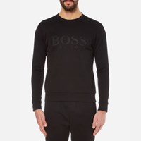 Hugo Boss Green Men's Salbo Logo Sweatshirt Black