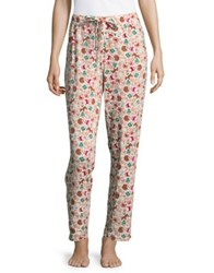 Lord And Taylor Printed Lounge Pants Ginger Bread