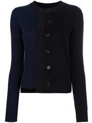 Maison Martin Margiela Spliced Knitted Cardigan Black