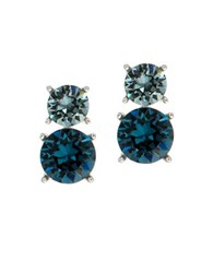 Anne Klein Swarovski Crystal Drop Earrings Blue