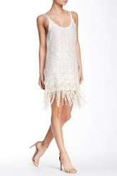 Yoana Baraschi Fringe Blue Lagoon Beach Dress White