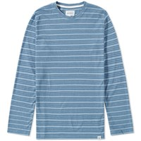 Norse Projects Long Sleeve James Fine Stripe Tee White