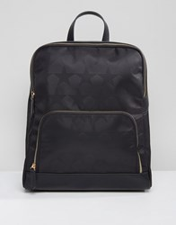 Qupid Star Print Backpack Black Star
