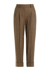 Michael Kors Cropped Wool Pants Brown