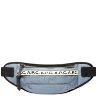 A.P.C. Repeat Logo Waist Bag Grey