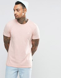 Criminal Damage T Shirt With Small Logo Pink
