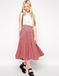 Emily And Fin Emily And Fin Sandy Full Midi Skirt 85Red