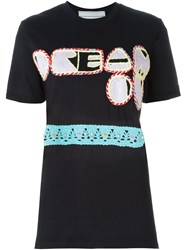 Michaela Buerger Crochet Patch T Shirt Black