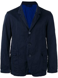 Casey Casey Flap Pocket Blazer Blue