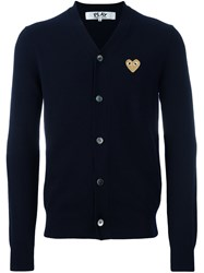 Comme Des Garcons Play Heart Cardigan Blue