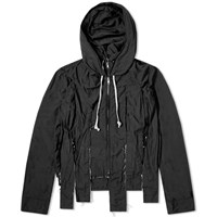 Comme Des Garcons Homme Plus Garment Treated Cut Hooded Jacket Black