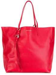 Alexander Mcqueen 'Skull' Shopper Tote Red
