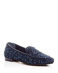 Donald J Pliner Helene Rhinestone Embellished Loafers Midnight