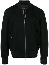 Alexander Mcqueen Zipped Up Bomber Jacket 1000 Black
