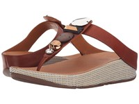 Fitflop Jeweley Toe Post Dark Tan Women's Sandals Brown