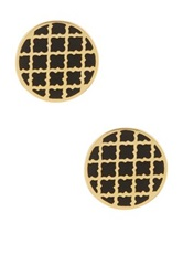 Ariella Collection Circle Earrings Black