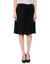 Galliano Knee Length Skirts Black