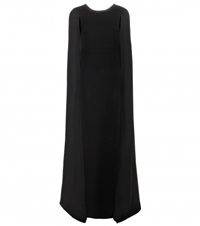 Valentino Floor Length Cape Gown Black
