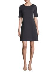 Peserico Textured A Line Dress Navy