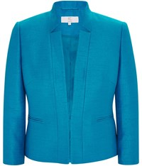 Cc Petite Shimmer Tailored Jacket Turquoise