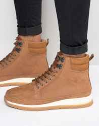 Boxfresh Loadha Leather Boots Brown