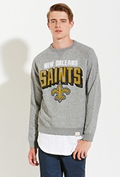 Forever 21 Junk Food Nfl New Orleans Saints Sweatshirt Grey Black