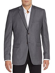 Theory Regular Fit Grid Check Wool Sportcoat Grey