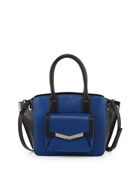 Time's Arrow Jo Mini Leather Tote Bag Paris Blue
