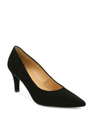 Andre Assous Onassis Suede Pumps Black