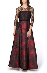 Tahari Women's Lace And Jacquard Ballgown