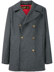 Gloverall Double Breasted Coat Grey