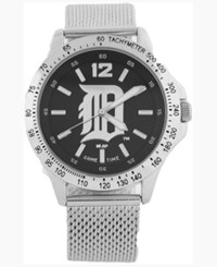 Game Time Detroit Tigers Cage Series Watch Silver Black