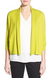 Women's Chaus Open Front Crop Cardigan Tropic Lime