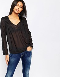 Pepe Jeans Nor Blouse With Gathered Shoulder Detail 982Antracite Grey