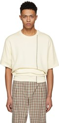 3.1 Phillip Lim Ecru Short Sleeve Re Constructed Sweatshirt