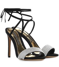 Alexandre Vauthier Kim Crystal Embellished Sandals Black