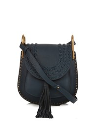 Chloe Hudson Small Leather Cross Body Bag Blue