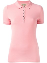 Burberry Snap Fastening Polo Shirt Pink Purple