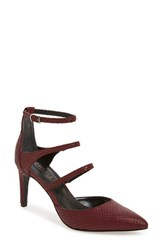 Charles By Charles David Women's 'Lena' Pointy Toe Strappy Pump Merlot Suede
