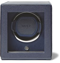 Wolf Cub Pebble Grain Faux Leather Watch Winder Navy