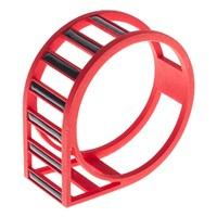Aea One Track Bangle Red With Black Inlay